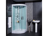 Aqualine Hydromassage Shower Cabin with 6 Body Jets - New Unboxed