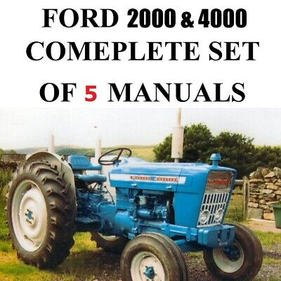 5 Ford 2000 Service Manual Tractors Service Parts Owners Manual 1965-1975 Cd
