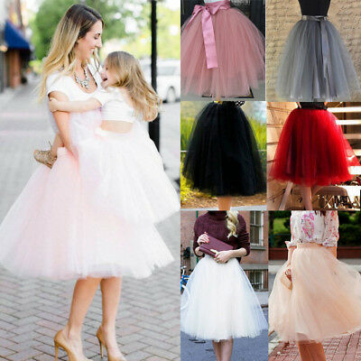 Women 7 Layer Tulle Skirt Dress 50s Rockabilly Tutu Petticoat Wedding - Tutu Petticoat Skirt