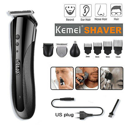 KEMEI Mens Electric Hair Cut Clipper Beard Shaver Machine Razor Nose Trimmer Set