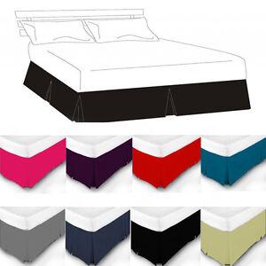 Luxury plain dyed pleated poly cotton platform base for Divan valance sheet