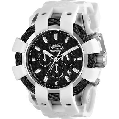 Invicta Bolt 23856 Men's Round Analog Chronograph Date White Silicone Watch