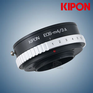 Kipon-adapter-with-aperture-for-Canon-EF-EOS-mount-lens-to-micro-4-3-M4-3-camera