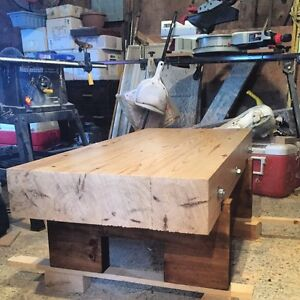 Handcrafted pine coffee table