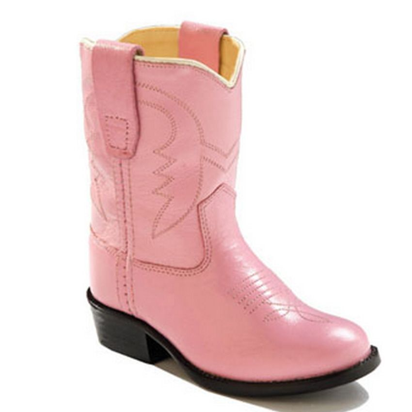 NIB Old West Toddler Girl Pink Western Cowboy Boots - Pink S
