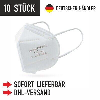 10x Hochwertige FFP3 Maske Mundschutz 5-lagig mit CE ✅ mit Nackenhalter-Clip