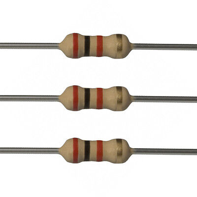100 X 2k Ohm Carbon Film Resistors - 14 Watt - 5 - 2k - Fast Usa Shipping