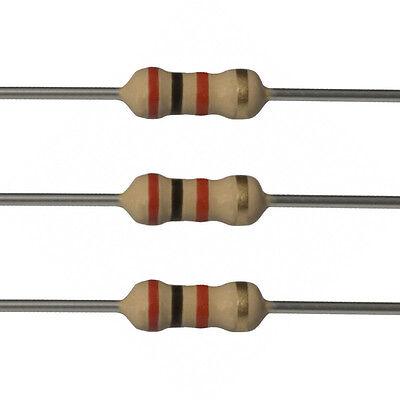 100 X 2k Ohm Carbon Film Resistors - 14 Watt - 5 - 2k - Fast Usa Shipping