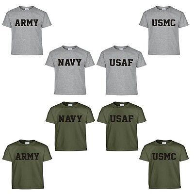 Us Army Air Force - US Army Navy Air Force USAF Marines USMC Military Physical Training PT T Shirt
