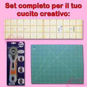 Set accessori per cucito creativo squadra taglierina for Accessori cucito