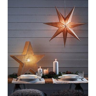 UFFE  Stern Weihnachtsstern Moses   Ø 55cm Weihnachten Lampe Jute natur