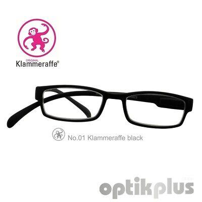 Lesebrille zum Umhängen - Klammeraffe No. 01 - schwarz   +1,00 bis +3,50Dpt.