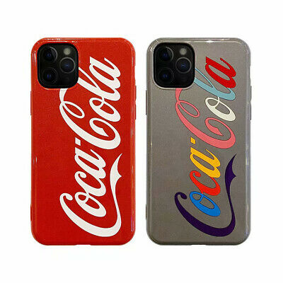 Cute Cartoon Coca Cola Case Cover for iPhone 7 8 11 X XR XS Max Pro