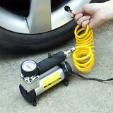 Car Portable Electric Air Compressor Tire Inflator Pump Heavy Duty 100PSI 12V