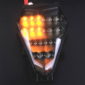 Fit Yamaha YZF R6 2006-2007 LED Turn Signals Integrated Rear Tail Light Smoke