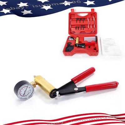 Us Manual Simple Vacuum Pumpbrake Bleeder With Vacuum Gauge Tool Set