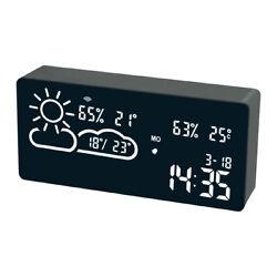 Smart WiFi Weather Station with Alarm Digital Clock and Indoor outdoor Temperat