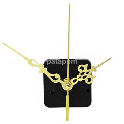 Quartz Clock Movement Mechanism 12mm Spindle Gold Metal Hand Battery Powered US