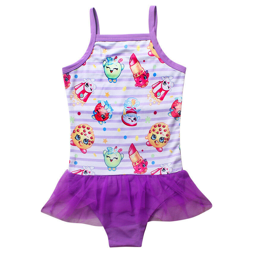 online sale buy new images of Details about US STOCK Girls Shopkins Swimsuit Swimwear Bathing swimming  suit Bikini O15
