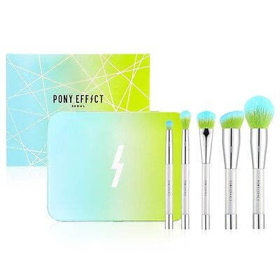 Pony Effect MINI Magnetic Make-Up Brush Set 5pcs K-beauty Meme box Makeup Brush