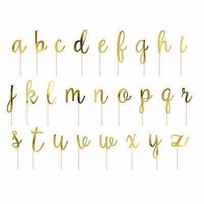 Cake Topper Buchstaben Tortendeko Alphabet in gold 53 tlg. / Geburtstagskuchen