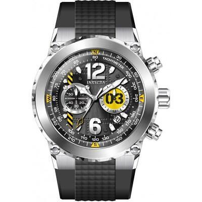Invicta 31579 Aviator 50MM Men's Black Silicone Watch