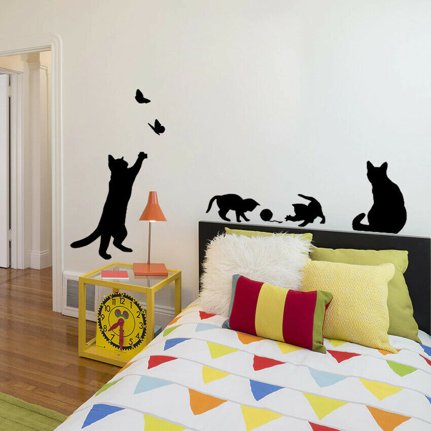Cat Wall Decals BIG Sticker Removable Decoration Decal Cats Stickers