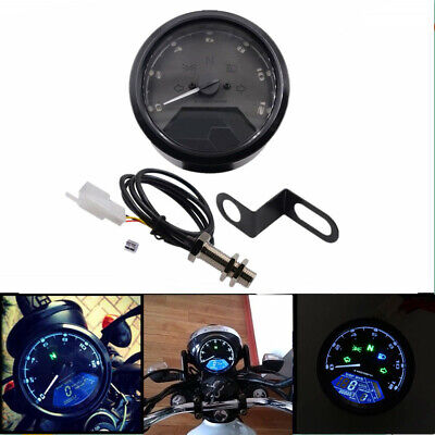Motorcycle 12000 RMP LCD Digital Odometer Speedometer Tachometer Gear Indicator