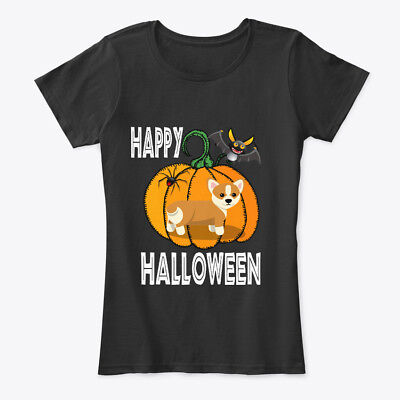 Corgi Happy Halloween (Happy Halloween Corgi Butt Women's Premium Tee)