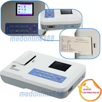 Digital 3 Channel 12 Lead Ecg Ekg Machinepc Software Electrocardiograph From Us