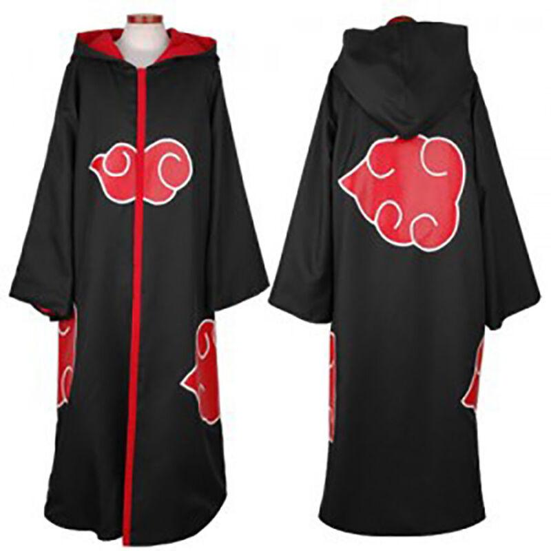 Anime Naruto Akatsuki Itachi Uchiha Cosplay Costume Cloak Halloween Cape Gifts