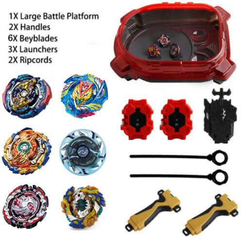 6Pcs Beyblade Burst Evolution Arena Launcher Battle Platform