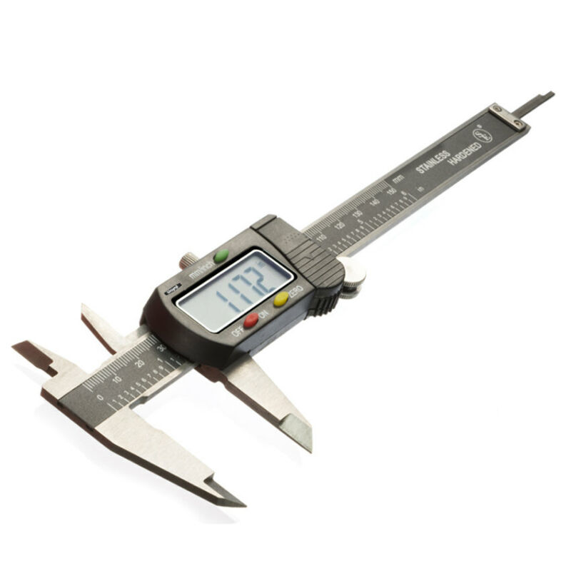 "6"" Digital Electronic Caliper Vernier Lcd Stainless Jewelry Gauge Labs Hobby"