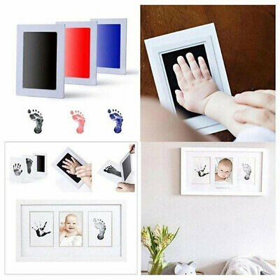 - Baby Inkless Wipe Keepsake Handprint Newborn Footprint Gift Hand Foot Print Kit