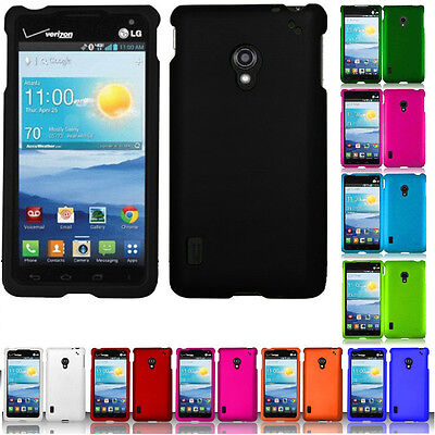 For Verizon LG Lucid 2 VS870 Rubberized HARD Case Snap On Phone Cover accessory (Lg Lucid 2 Phone Cases)