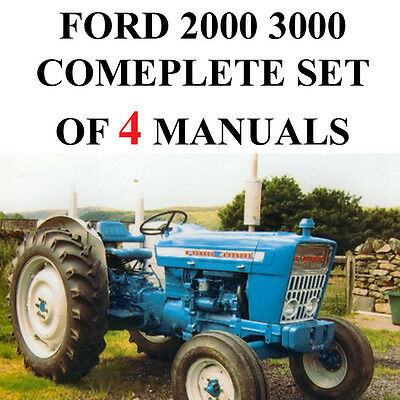 Ford 2000 3000 Series Tractor Service Parts Catalog Owners Manual 4 Manuals Cd