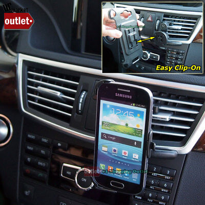 Used, Car/Truck Air Vent Clip-On Mobile Mount Holder For Samsung Galaxy S Duos S7562 for sale  Shipping to India