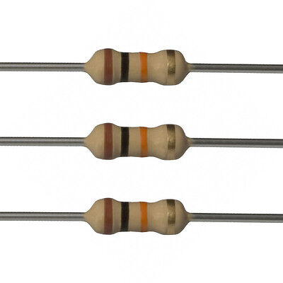 100 X 10k Ohm Carbon Film Resistors - 12 Watt - 5 - 10k - Fast Usa Shipping