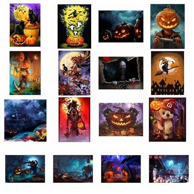 Full Drill Halloween Theme 5D Diamond Painting DIY Craft Home Decor Kids Gift US - Halloween 3 Drill