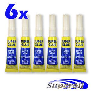 6x pegamento fuerte de contacto super glue 3gr for Super glue precio
