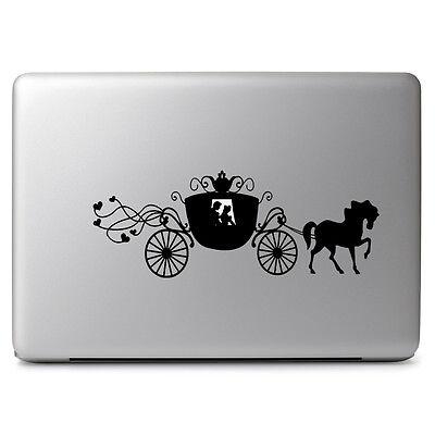 "Cinderella Carriage Disney for Macbook Air/Pro 11 13 15"" Vinyl Decal Sticker"