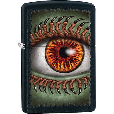 Zippo Monster Eye Black Matte Lighter - Gothic Zippo Lighter Claws Monster Eye 2