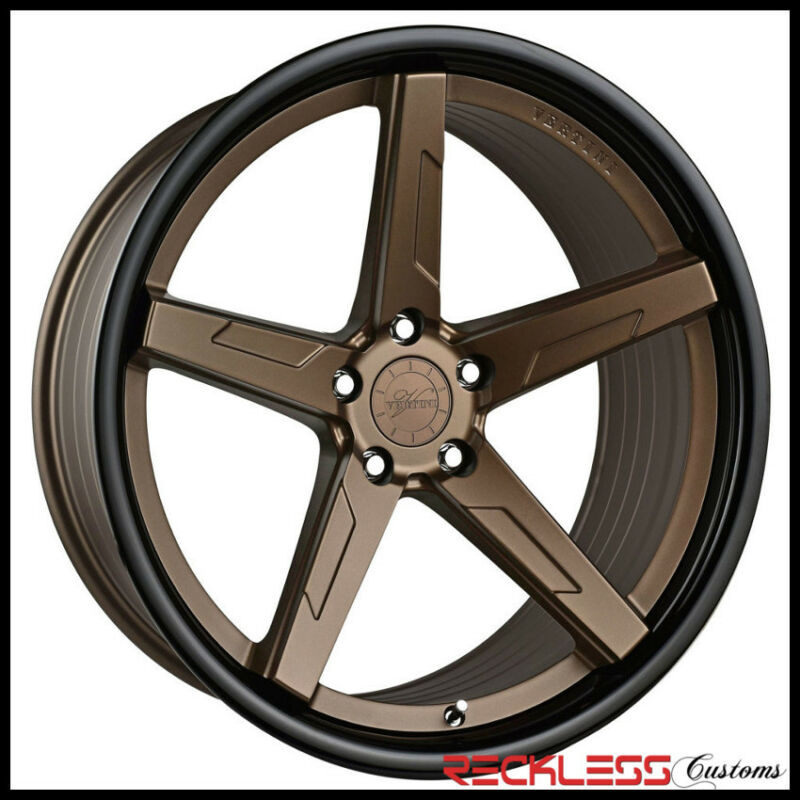 "20"" Vertini Rfs1.7 Concave Bronze Wheels Rims Fits Dodge Charger Scatpack"