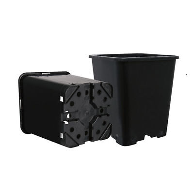Hydroponics Black Square Gardening Indoor Growing Tent Media Plant Pot 7L x50PCS