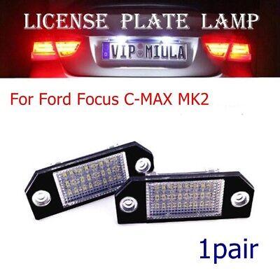 2pc For Ford Focus C-MAX MK2 24 LED Number License Plate Light Lamp Bulbs White