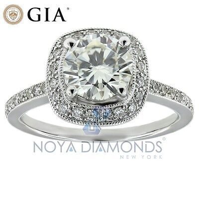 1.35 CARAT E SI2 GIA CERTIFIED ROUND BRILLIANT DIAMOND ENGAGEMENT RING 18K GOLD