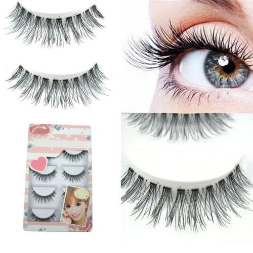5Pairs/Box Natural Sparse Cross Eye Lashes Extension Makeup Long False Eyelashes