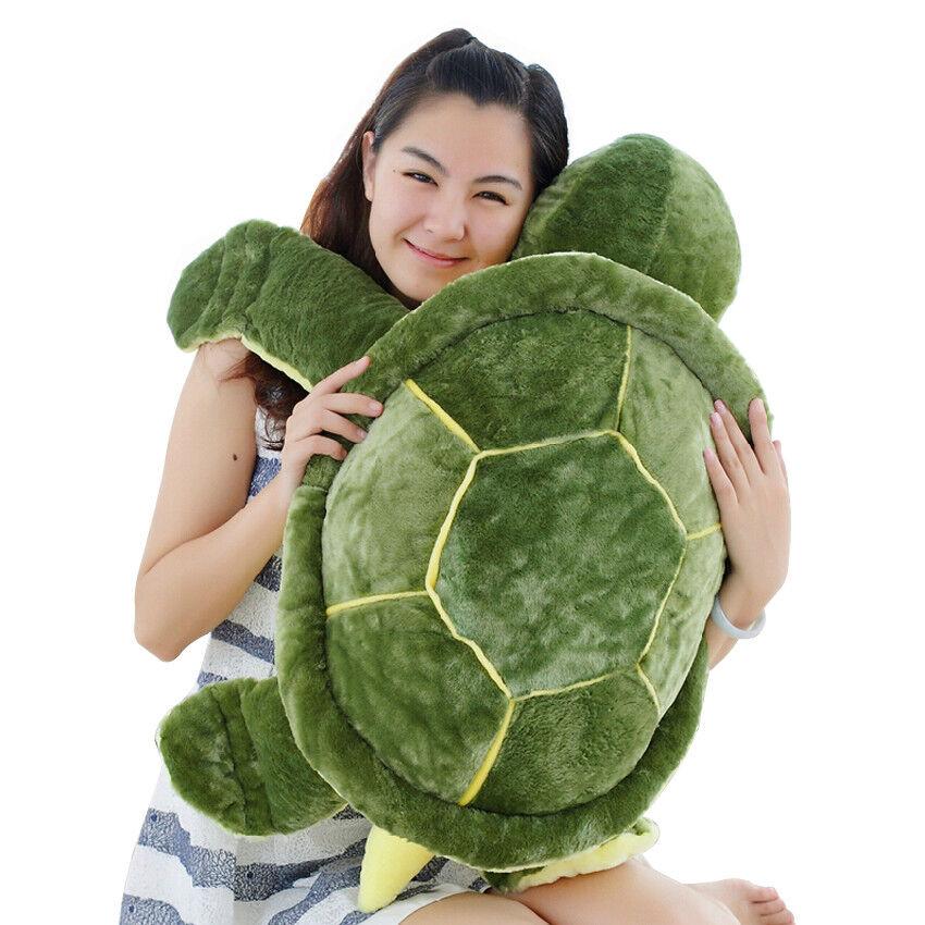 80cm Large Tortoise Plush Turtle Soft Stuffed Animal Teddy Bear Kids Toys Pillow