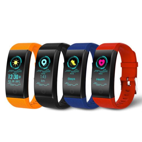 IP68 Waterproof Blood Pressure/Heart Rate Monitor Smart Watch Fitness Tracker