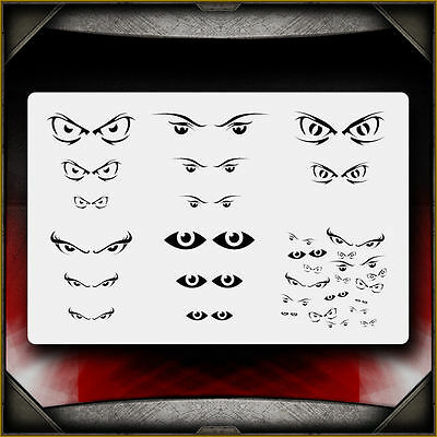 """Eyes 1"" Airbrush Stencil Template Airsick"